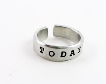Intention Jewelry (Adjustable Ring as  Reminder That Today is The Day)