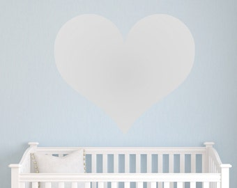 Large Heart Decal, Gold Heart Wall Decal, Heart Decal, Large Heart Decal, Silver Heart Vinyl Decal,