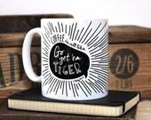 Chatty Coffee mug, chatty Nora, typographic mug, motivational mug, coffee cup