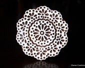 Wood Block Stamp, Tjaps, Indian Wood Stamp, Pottery Stamp, Textile Stamp, Printing Stamp - Round Doily