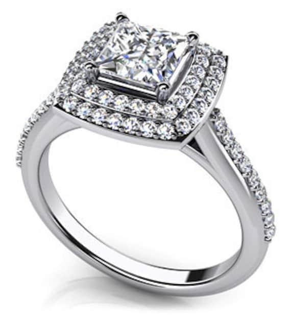 princess cut ring popular item by temptingjewels