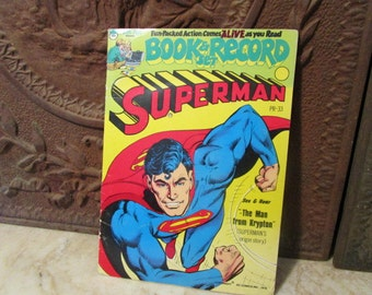 """Vintage 1978'', Superman """" story book and record set!"""