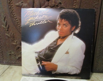 "Vintage 1982, ""Michael Jackson,""Thriller"", album and gatefold cover!"
