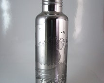 Tree and Root System 24 oz Etched Stainless Steel Water Bottle