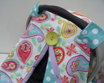 Carseat Canopy Pastel Paisley