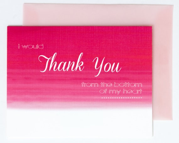 Thank You Cards in Pink Ombre