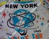 1965 New York World's Fair Souvenir Scarf
