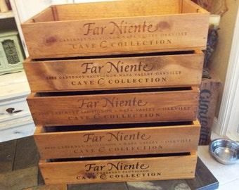 Far Niente Wine Crate/ Wedding Decor / Napa Valley / Organization/Garden Box/ Planter Box