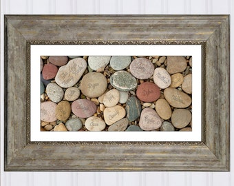 """Family Rocks, Personalized Christmas Gift for Mom, Gift for Grandma, Genealogy Art Print, 10"""" x 20"""", Cyber Monday Sale"""