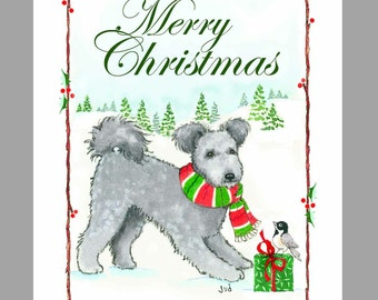 Pumi Christmas Cards Box of 16 Cards and 16 Envelopes