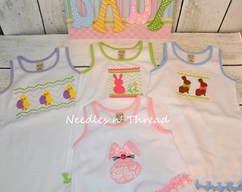 Easter Spring Baby Dress Embroidered