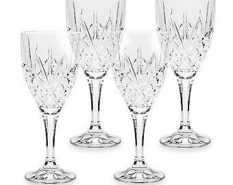 Set of 4 Lead Crystal Wine Glasses