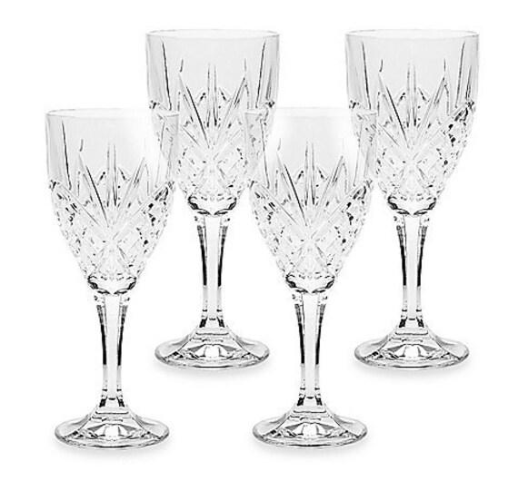Articoli simili a set di 4 portare bicchieri cristallo for Bicchieri cristallo