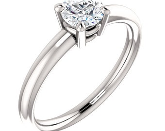 1/2ct  EGL Certified Diamond F Color  SI2 Clarity Solitaire  Engagement Ring In 14k White Gold  ST233342