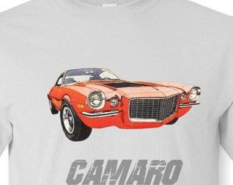 1970 Camaro Tee Shirt, White, Ash Grey