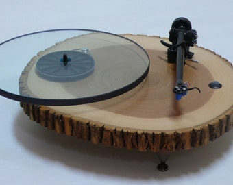 Audiowood Barky Turntable