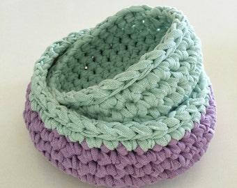 Crochet nesting bowls pattern - crochet pattern
