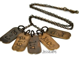 Dog Tag Necklace Mommy Necklace