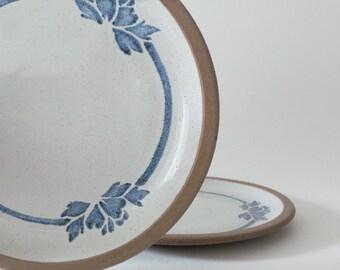 Vintage Earthy Stoneware Plates