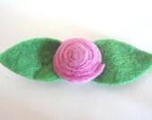 Beautiful Felt Rose Pin, Rose Brooch