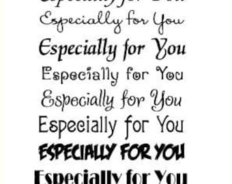 "Especially for you // Clear stamps pack (4""x7"") FLONZ"
