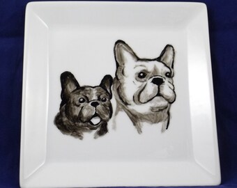 French Bulldog decorative plate