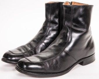 Men's Black Beatle Boot Size 9 EE WIDE