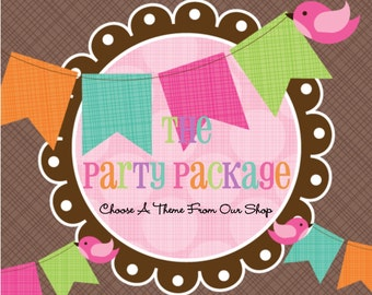 The Party Package- Personalized Party Package- Custom Made For You-Pick Any Theme In Our Shop