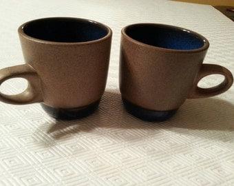 2 Vintage Heathware, coffee mugs