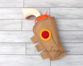 Toy Story Inspired Felt Woody Dress Up Pretend Costume Toy Gun Holster