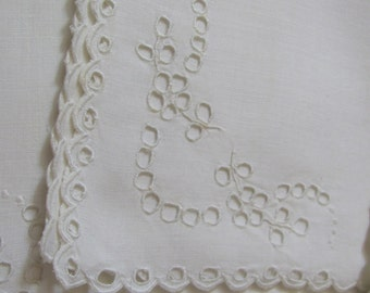 Set of 6 Vintage Small Linen Luncheon Tea Napkins 14""