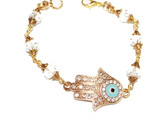 Hamsa bracelet, Silver hamsa bracelet, evil eye bracelet, hamsa charm bracelet, bad eye charm, bad eye charm bracelet