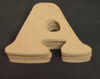 """Hand Cut Alphabets, Pack of 6 """"A"""", 4.5"""" Tall, Blank, Ready for your art work"""