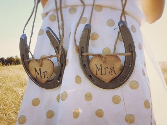 Wedding Chair Signs Horseshoe Wedding Decor Mr And Mrs Signs Horseshoe Wedding Decor Sweetheart