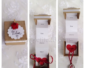 Pop Up Marriage Proposal secret message in a box - Will you marry me, be my wife, be my husband, my love