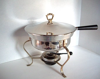 Vintage Food Warmer, Chafing Dish, Buffet Warmer, Table Server, Entertainment , Party Dish, Sterno, 1980s