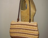 RESERVED - shades of brown straw bag