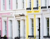 Notting Hill art print, London photography, pastel, - Candy Floss Notting Hill