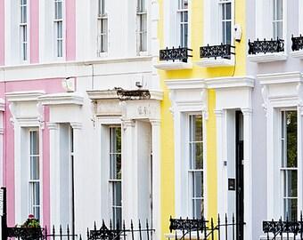 Notting Hill art print, London photography, pastel, - Candy Floss Notting Hill