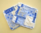 Hanukkah Print - Pair of Quilted Fabric Pot Holders