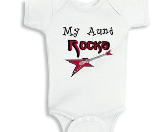 My Aunt Rocks - baby bodysuit
