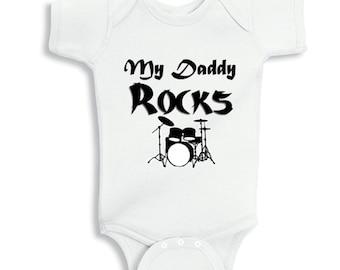 My Daddy Rocks -  personalized baby bodysuit