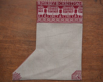 A Nordic Christmas Stocking - Cross-stitch Pattern - Instant Download PDF Pattern