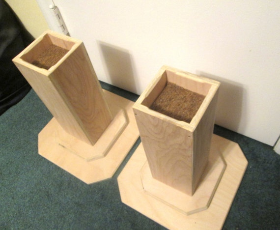 Furniture risers 12 inch all wood construction by odyssey359 for 12 inch square table