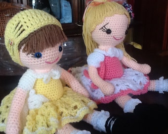 Crochet doll in your choice of colors