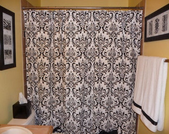 Curtains Ideas black and white damask curtains : Gray damask curtains – Etsy