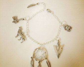 Dream of Wolves - Dreamcatcher Charm Bracelet (Deluxe)