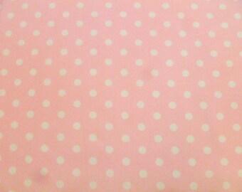 Robert Kaufman Fabric, Pimatex Basics, BKT 2582-15, Pale Pink, Dots, Pink