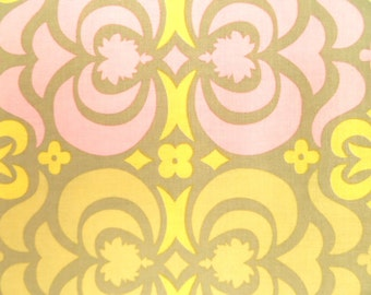 Amy Butler Fabric, Garden Maze, Grey, AB23, Pink, Yellow, Modern