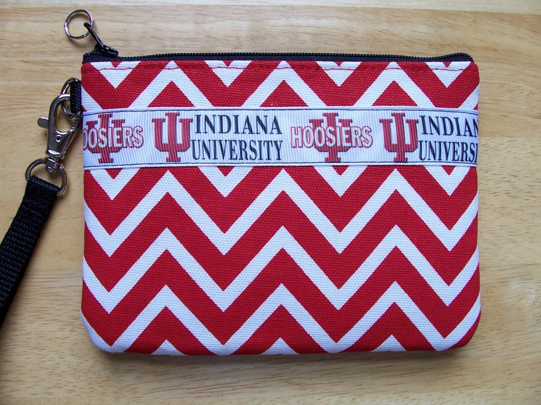 Indiana University Hoosiers Ncaa Red Chevron By Bhipbags